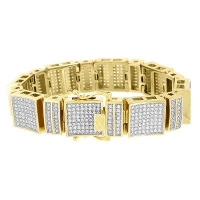 18k Yellow gold hip hop bracelet