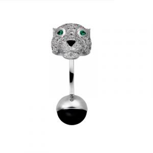 panther diamond cufflinks