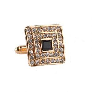 diamond square cufflinks