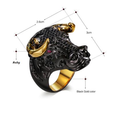 bull hip hop diamond ring