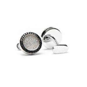black and white diamonds framed cufflinks