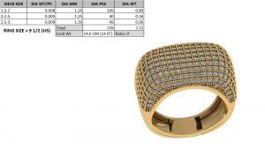 hip hop diamond ring