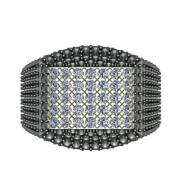black diamond pinky engagement ring