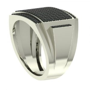 black diamond men's hip hop ring
