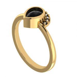 1ct half halo engagement ring