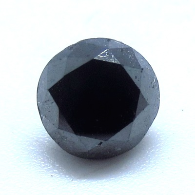 fancy round brilliant black diamond