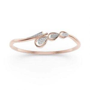 14k rose gold bangle bracelet