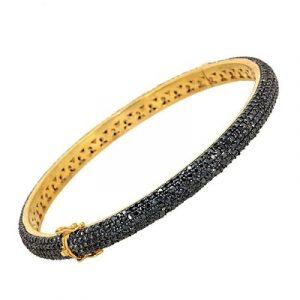 black diamond vintage bangle braceletblack diamond vintage bangle bracelet
