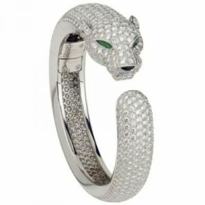 panther white diamonds men's bracelet