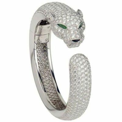 panther white diamonds men's bracelet
