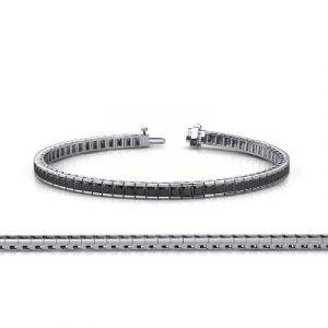 black diamond channel set tennis bracelet