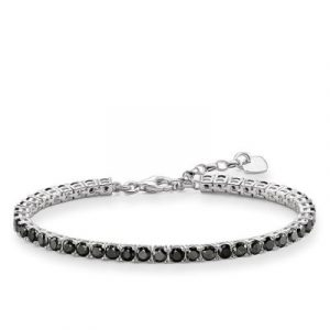 round black diamonds tennis bracelet