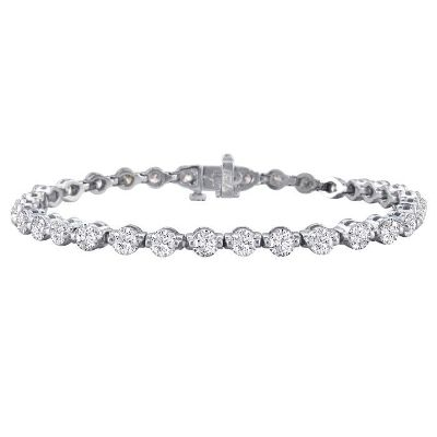 White diamonds tennis bracelet