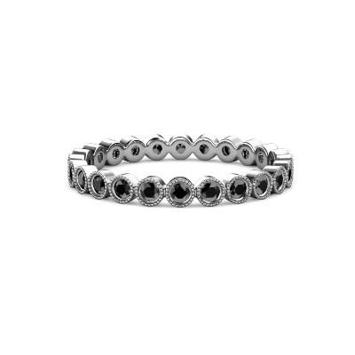 black diamonds eternity band