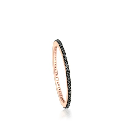 halo black diamond eternity ring