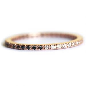 black and white diamond full eternity band