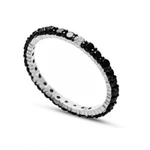 black and white diamonds eternity band