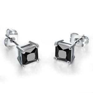 Men's black stud earrings