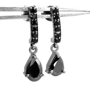 pear shape dangle earrings