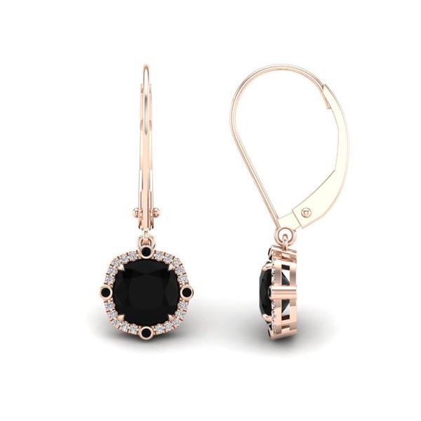 cushion cut dangle earrings