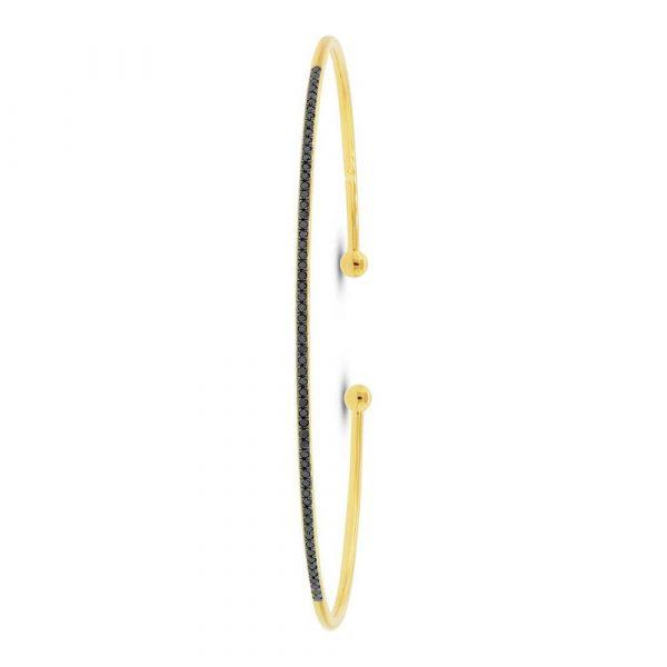 black diamond bangle cuff bracelet