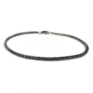 round black diamond tennis bracelet
