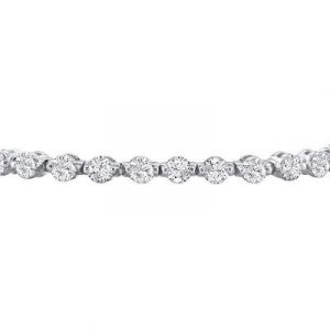 White diamonds tennis bracelet