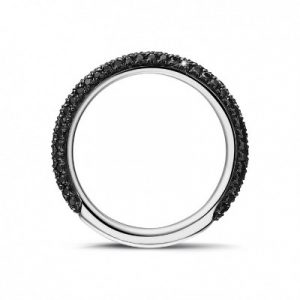 black diamonds half eternity ring