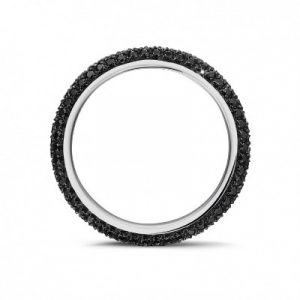 black diamonds eternity ring