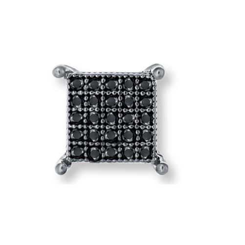 men's black diamond earrings