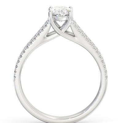 oval shape vintage diamond ring