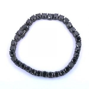 men's black diamond tennis bracelet