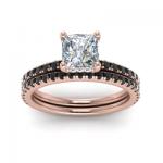 princess cut diamond bridal set