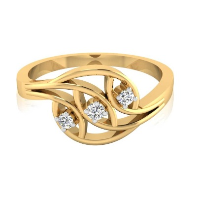 yellow gold three stone engagement rings