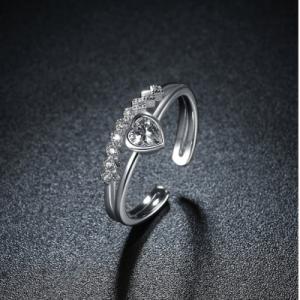 white sapphire promise rings