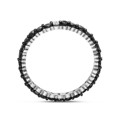 black and white diamonds eternity band