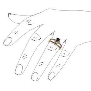 black diamond bridal set ring