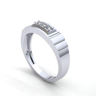 men's three stone wedding ring