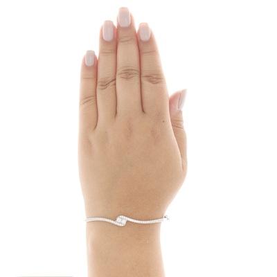 white diamond bangle bracelet