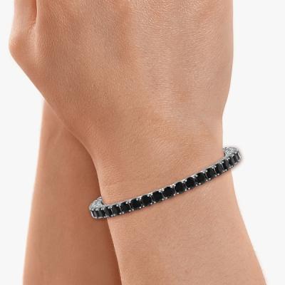 twin diamond tennis bracelet