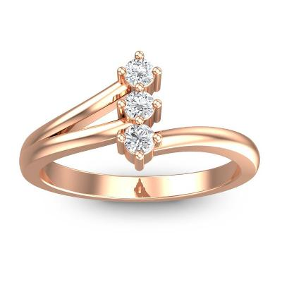 unique white diamond three stone ring