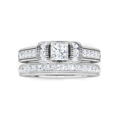 unique bridal set ring for women's