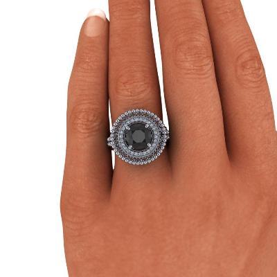 vintage style black diamond ring