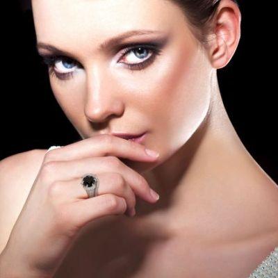 stylish black diamond engagement ring