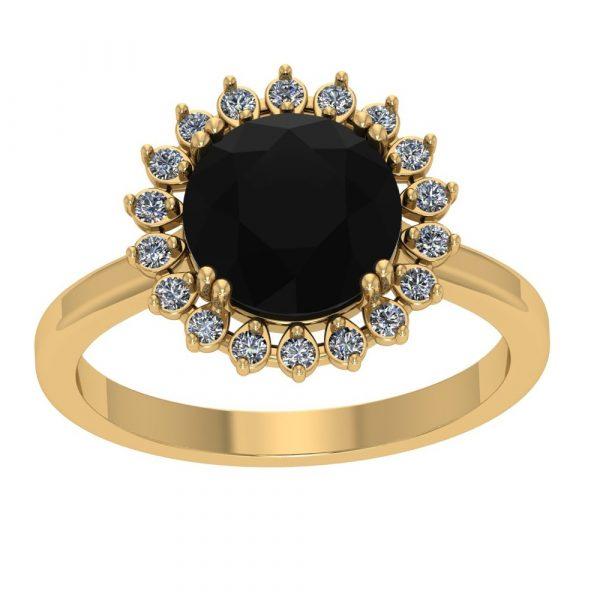 black and white diamond halo ring