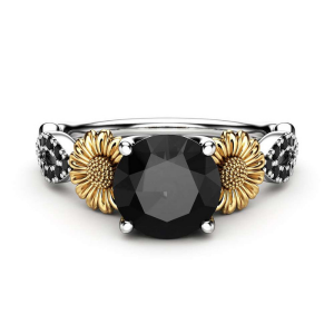 Sunflower Engagement Ring