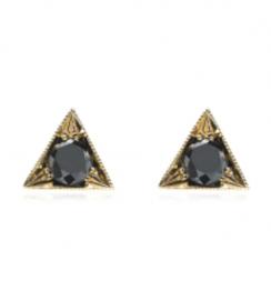unisex black diamond stud earring