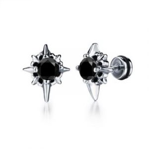 men's diamond stud earring