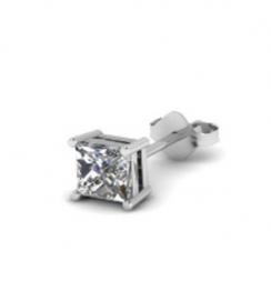 princess cut diamond earring