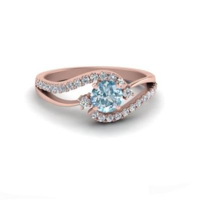 aquamarine engagement ring